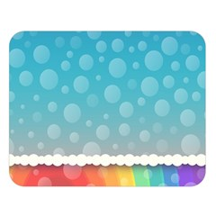 Rainbow Background Border Colorful Double Sided Flano Blanket (large)  by Amaryn4rt