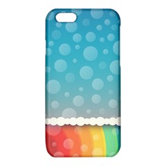 Rainbow Background Border Colorful iPhone 6/6S TPU Case by Amaryn4rt