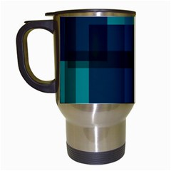 Boxes Abstractly Travel Mugs (white) by Amaryn4rt