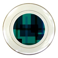 Boxes Abstractly Porcelain Plates by Amaryn4rt