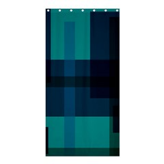 Boxes Abstractly Shower Curtain 36  X 72  (stall)  by Amaryn4rt