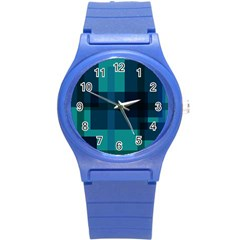 Boxes Abstractly Round Plastic Sport Watch (s) by Amaryn4rt