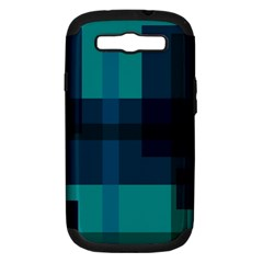 Boxes Abstractly Samsung Galaxy S Iii Hardshell Case (pc+silicone) by Amaryn4rt