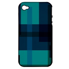 Boxes Abstractly Apple Iphone 4/4s Hardshell Case (pc+silicone) by Amaryn4rt