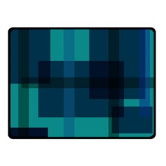 Boxes Abstractly Double Sided Fleece Blanket (small)