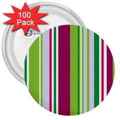 Beautiful Multi Colored Bright Stripes Pattern Wallpaper Background 3  Buttons (100 Pack)  by Amaryn4rt