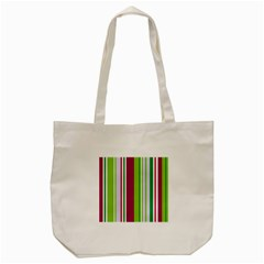 Beautiful Multi Colored Bright Stripes Pattern Wallpaper Background Tote Bag (cream) by Amaryn4rt