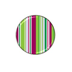 Beautiful Multi Colored Bright Stripes Pattern Wallpaper Background Hat Clip Ball Marker by Amaryn4rt