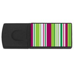 Beautiful Multi Colored Bright Stripes Pattern Wallpaper Background Usb Flash Drive Rectangular (4 Gb) by Amaryn4rt