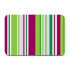 Beautiful Multi Colored Bright Stripes Pattern Wallpaper Background Plate Mats by Amaryn4rt