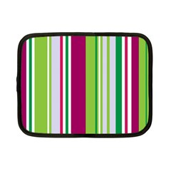 Beautiful Multi Colored Bright Stripes Pattern Wallpaper Background Netbook Case (small)  by Amaryn4rt