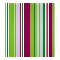 Beautiful Multi Colored Bright Stripes Pattern Wallpaper Background Shower Curtain 66  X 72  (large)  by Amaryn4rt