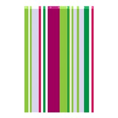 Beautiful Multi Colored Bright Stripes Pattern Wallpaper Background Shower Curtain 48  X 72  (small)  by Amaryn4rt