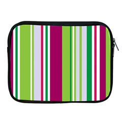 Beautiful Multi Colored Bright Stripes Pattern Wallpaper Background Apple Ipad 2/3/4 Zipper Cases