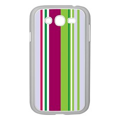 Beautiful Multi Colored Bright Stripes Pattern Wallpaper Background Samsung Galaxy Grand Duos I9082 Case (white) by Amaryn4rt