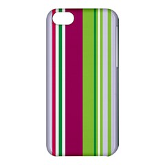 Beautiful Multi Colored Bright Stripes Pattern Wallpaper Background Apple Iphone 5c Hardshell Case by Amaryn4rt