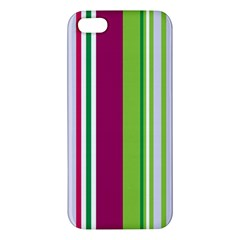 Beautiful Multi Colored Bright Stripes Pattern Wallpaper Background Iphone 5s/ Se Premium Hardshell Case by Amaryn4rt