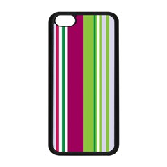 Beautiful Multi Colored Bright Stripes Pattern Wallpaper Background Apple Iphone 5c Seamless Case (black) by Amaryn4rt