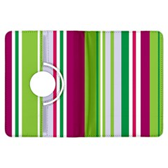 Beautiful Multi Colored Bright Stripes Pattern Wallpaper Background Kindle Fire Hdx Flip 360 Case by Amaryn4rt