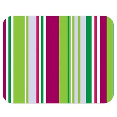Beautiful Multi Colored Bright Stripes Pattern Wallpaper Background Double Sided Flano Blanket (medium)  by Amaryn4rt