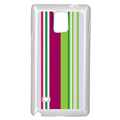 Beautiful Multi Colored Bright Stripes Pattern Wallpaper Background Samsung Galaxy Note 4 Case (white) by Amaryn4rt