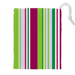 Beautiful Multi Colored Bright Stripes Pattern Wallpaper Background Drawstring Pouches (xxl) by Amaryn4rt