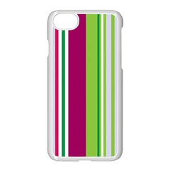 Beautiful Multi Colored Bright Stripes Pattern Wallpaper Background Apple Iphone 7 Seamless Case (white) by Amaryn4rt