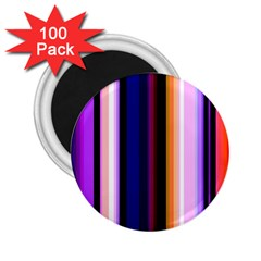 Fun Striped Background Design Pattern 2 25  Magnets (100 Pack)  by Amaryn4rt