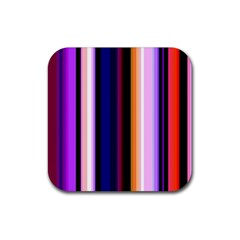 Fun Striped Background Design Pattern Rubber Square Coaster (4 Pack)  by Amaryn4rt