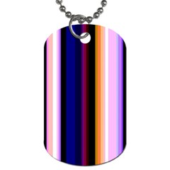Fun Striped Background Design Pattern Dog Tag (two Sides) by Amaryn4rt