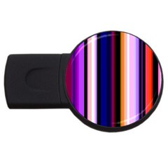 Fun Striped Background Design Pattern Usb Flash Drive Round (2 Gb) by Amaryn4rt