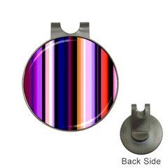 Fun Striped Background Design Pattern Hat Clips With Golf Markers by Amaryn4rt