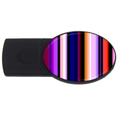 Fun Striped Background Design Pattern Usb Flash Drive Oval (4 Gb) by Amaryn4rt