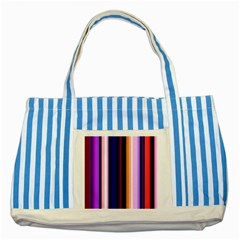 Fun Striped Background Design Pattern Striped Blue Tote Bag by Amaryn4rt