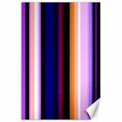 Fun Striped Background Design Pattern Canvas 24  X 36  by Amaryn4rt