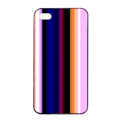 Fun Striped Background Design Pattern Apple Iphone 4/4s Seamless Case (black) by Amaryn4rt