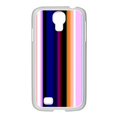 Fun Striped Background Design Pattern Samsung Galaxy S4 I9500/ I9505 Case (white) by Amaryn4rt