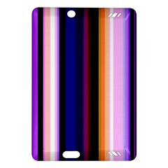 Fun Striped Background Design Pattern Amazon Kindle Fire Hd (2013) Hardshell Case by Amaryn4rt