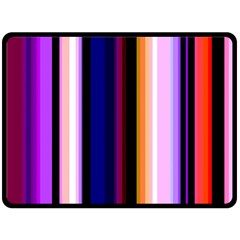 Fun Striped Background Design Pattern Double Sided Fleece Blanket (large)  by Amaryn4rt