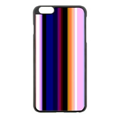 Fun Striped Background Design Pattern Apple Iphone 6 Plus/6s Plus Black Enamel Case by Amaryn4rt