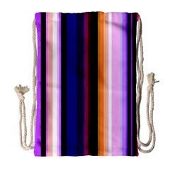 Fun Striped Background Design Pattern Drawstring Bag (large) by Amaryn4rt