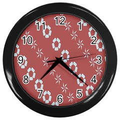 Abstract Pattern Background Wallpaper In Pastel Shapes Wall Clocks (black) by Amaryn4rt