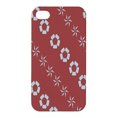 Abstract Pattern Background Wallpaper In Pastel Shapes Apple Iphone 4/4s Hardshell Case by Amaryn4rt