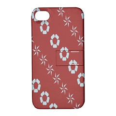 Abstract Pattern Background Wallpaper In Pastel Shapes Apple Iphone 4/4s Hardshell Case With Stand by Amaryn4rt