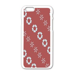 Abstract Pattern Background Wallpaper In Pastel Shapes Apple Iphone 6/6s White Enamel Case