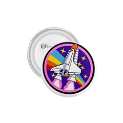 Badge Patch Pink Rainbow Rocket 1 75  Buttons by Amaryn4rt