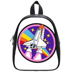Badge Patch Pink Rainbow Rocket School Bags (small)  by Amaryn4rt