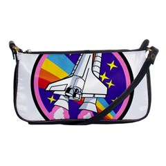 Badge Patch Pink Rainbow Rocket Shoulder Clutch Bags by Amaryn4rt