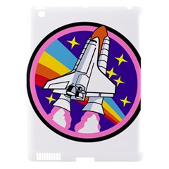 Badge Patch Pink Rainbow Rocket Apple Ipad 3/4 Hardshell Case (compatible With Smart Cover) by Amaryn4rt