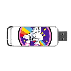 Badge Patch Pink Rainbow Rocket Portable Usb Flash (two Sides)